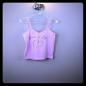 Princess vera wang pink stretchy cami